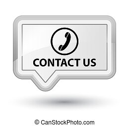 Contact us (phone icon) prime white banner button
