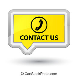 Contact us (phone icon) prime yellow banner button