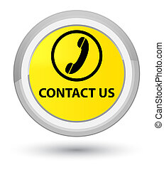 Contact us (phone icon) prime yellow round button