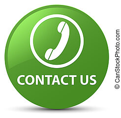 Contact us (phone icon) soft green round button