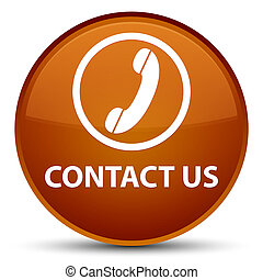 Contact us (phone icon) special brown round button