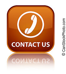 Contact us (phone icon) special brown square button