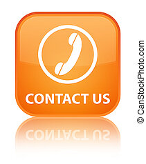 Contact us (phone icon) special orange square button