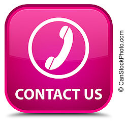 Contact us (phone icon) special pink square button
