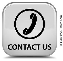 Contact us (phone icon) special white square button