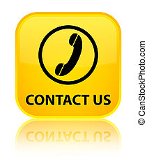 Contact us (phone icon) special yellow square button