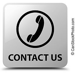 Contact us (phone icon) white square button