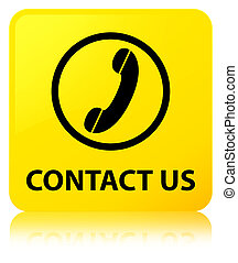 Contact us (phone icon) yellow square button
