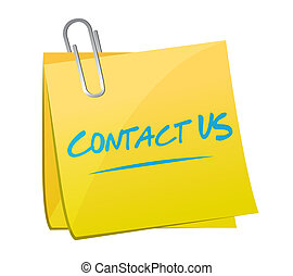 contact us post memo sign concept illustration design...
