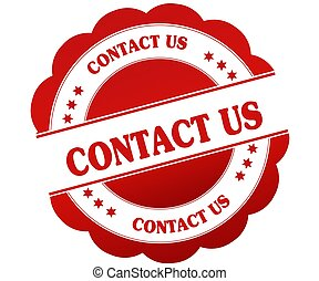 CONTACT US red round rubber stamp