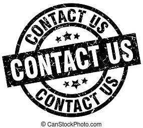 contact us round grunge black stamp