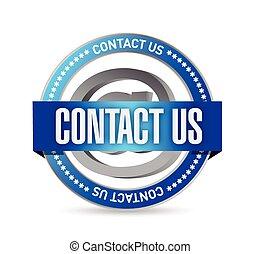 contact us seal illustration design
