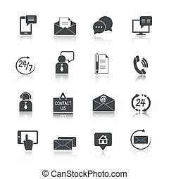 Contact Us Service Icons Set - Contact us service icons set...