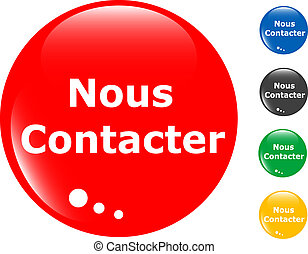 contact us set of colored button