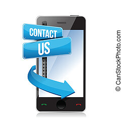 contact us sign and phone