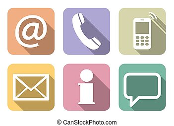 contact us six icons set