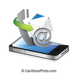 contact us smartphone illustration design concept graphic