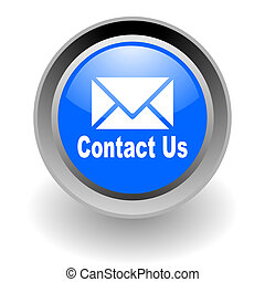 contact us steel glosssy icon
