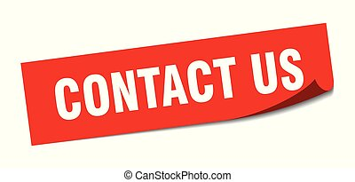 contact us sticker. contact us square isolated sign. contact us