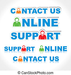 contact us ,support, online