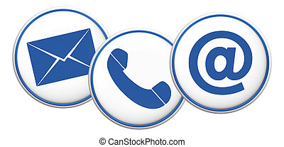 contact us symbol button