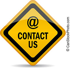 Contact us vector sign