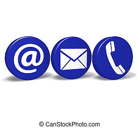 Contact Us Web Buttons - Web and Internet contact us concept...