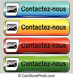 contact us web butttons - french translation for mail...