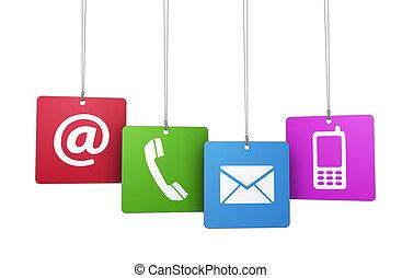 Contact Us Web Concept - Web and Internet contact us symbol ...