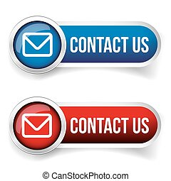 Contact Us - web contact icon design element
