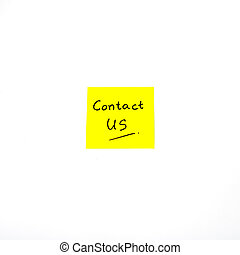 contact us word on post it