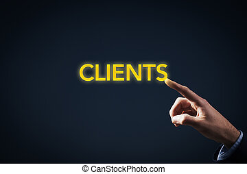 Contact with clients