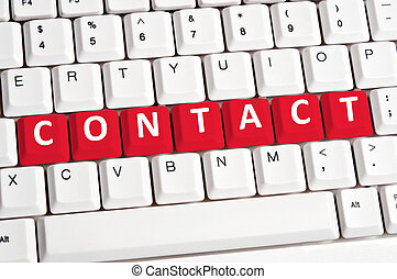 Contact word on keyboard
