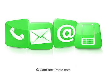 contactar-nos, ícones