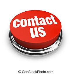 contactar-nos, -, botão vermelho