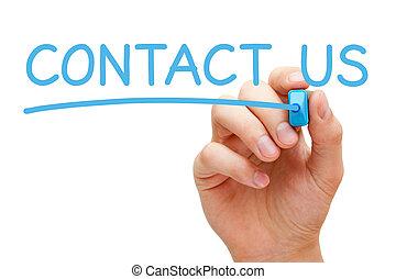 contacteer ons, concept