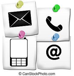 contacteer ons, iconen