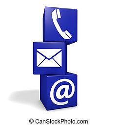 contacteer ons, internet, concept
