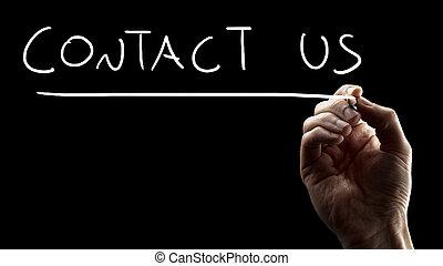 contacteer ons, meldingsbord