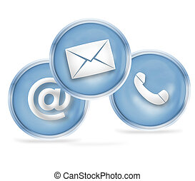contacteer ons, pictogram, ontwerp