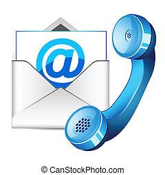 contacteer ons, pictogram
