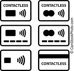 contactless NFC payment credit card icon - illustration for...