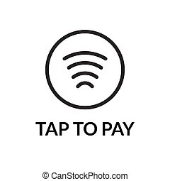 Contactless NFC wireless pay sign logo. Credit card nfc...