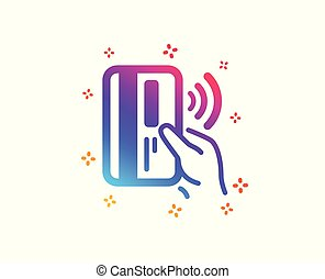 Contactless payment card icon. Money sign. Vector -...