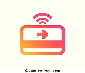 Contactless payment icon. Credit card sign. Vector -...