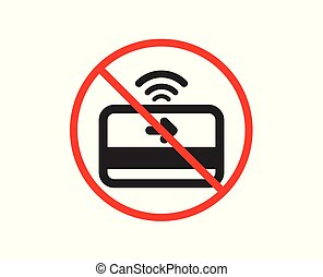 Contactless payment icon. Credit card sign. Vector - No or...