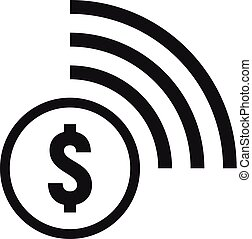 Contactless payment icon, simple style - Contactless payment...