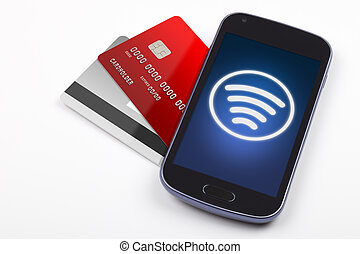 Contactless payment with mobile pho - Sending contactless...