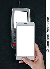 Contactless smartphone payment.