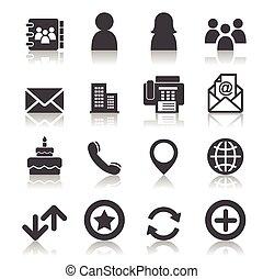 contacto, iconos